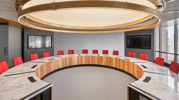 Board of Director's Boardroom at McDonald's Headquarters in Chicago, Illinois.